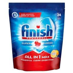 Finish Dishwashing Tablets Lemon 24 Pack