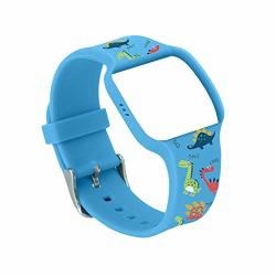 Dinosaur Pattern Blue Colored Watch Band For Use With Athena Futures Potty Training Watch