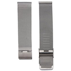 18MM 20MM 22MM 24MM Stainless Steel Watch Band Mesh Wrist Band Strap W: 22MM Silver