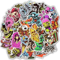 Vinstickers - Pack Of 50 Pcs Pieces Waterproof Vinyl Scary Horror Stories Stickers For Personalize Laptop Car Helmet Skateboard Luggage Graffiti Decals