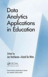 Data Analytics Applications In Education Hardcover