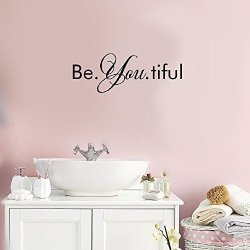 Liuts Vinyl Peel And Stick Mural Removable Decals Be. You. Tiful For Bathroom