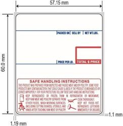 """USA Npos Solutions Cas Label 8040 58 X 60 Mm 2.25"""" X 2.37"""" 500 Labels Per Roll 12 Rolls Per Case Safe Handling Upc Scale Label"""