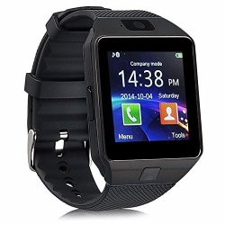 DZ09 Bluetooth Smart Watch Touch Screen Wrist Watch Sports Fitness Tracker With Camera Pedometer Compatible Iphone Ios Samsung LG Android Sim Sd Card Slot