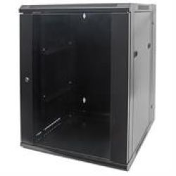 Intellinet 19 Double Section Wallmount Cabinet - 9U Double Section Assembled Black Retail Box 1 Year Warranty On Case Product Ov