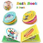 Baztoy Baby Bath Book Safe & Non-toxic Waterproof Bath Toys Books Set Set Of 3 For Toddlers Babies Bath Time Educational Toy Flo