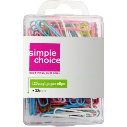 SIMPLE CHOICE - 33MM Vinyl Paper Clips
