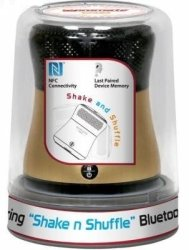 Promate Spire Dual Pairing Shake N Shuffle Bluetooth nfc Speaker - Gold Retail Box 1 Year Warranty