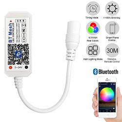 Indarun Bluetooth Smart LED Controller Wireless Rgb Bt Mesh LED Controller For LED Strip Lights Compatible With Android And Ios System