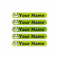 Oliver's Labels Personalized Waterproof MINI Labels Panda Theme