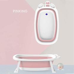 Plastic Folding Bathtub Kids Baby Bath Tub Portable Fold Away Bathtub Children's Folding Shower Tray Comfortable Folding Baby Tub Color : Pink