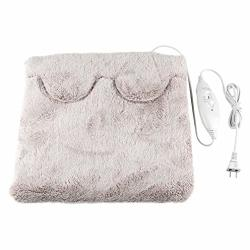 Mexidi Luxury Flannel Electric Blanket Ultra Soft Washable Electric Safety Foot Hand Heating Warmer Pad Blanket 38X38CM Gray
