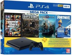 Playstation 4 500GB Console with 3 Games & Voucher