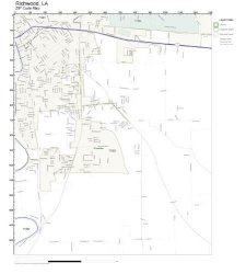Zip Code Wall Map Of Richwood La Zip Code Map Not Laminated