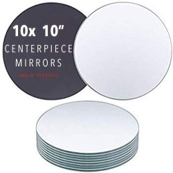 Imajin Products Round Centerpiece Mirror For Wedding Decorations