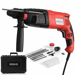 Professional Ironmax Tools Sds-plus Rotary Hammer Drill 3 Mode In 1 Electric 9 Amp 1 2 Corded Drill With Adjustable Speed Rotati