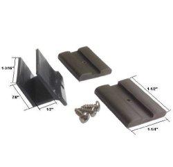 """GordonGlass Co. Sliding Shower Door Bottom Guide 1 2"""" Wide And Shower Door Bumpers - Kit"""