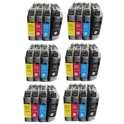 Inktoner Brother LC103 Color Ink Cartridges LC103 24PKS 6-BLACK 6-MAGENTA 6-CYAN 6-YELLOW By
