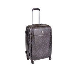 Tosca - 55CM Mirage Printed Black Upright Trolley