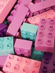 Bricks & Pieces Bubble Gum Blocks 1KG Bag