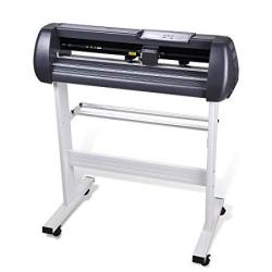 """Cutting Plotter Vinyl Cutter Machine 28"""" Adjustable Width With Lcd Display USB Connection Auto Memory Digital Force Speed Rotati"""
