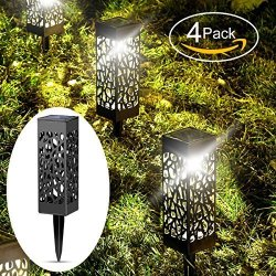Beau Jardin Solar Lights Outdoor Garden Ed Path Lighting Glow Led Pathway Front Gate Bright Landscape Black Waterproof