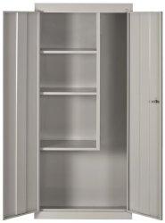 Sandusky Lee VFC1301566-05 Dove Gray Steel Janitorial supply Cabinet 3 Fixed Side Shelves 66 Height X 30 Width X 15 Depth