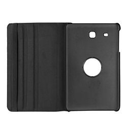 Feicuan 360 Rotate Rotating Stand Pu Leather Case Cover For Samsung Tab E 8.0 T377V F P Black
