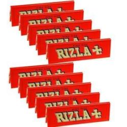 Rizla Red King Size Narrow Cigarette Rolling Papers - 10 Packets