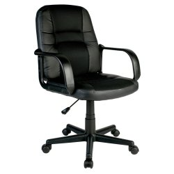 No Brand - Leo Mid Back Chair Black