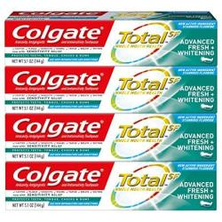 Colgate Total Advanced Fresh + Whitening Gel Toothpaste 4 Count