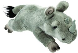 Suki Gifts 12126SUKI Classic Flat Lying Rhino Soft Toy 30CM 30CM