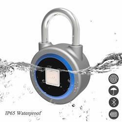 Nwlzx Fingerprint Padlock - 2ND Gen Smart Bluetooth Keyless Biometric Lock For Gym Locker Outdoor Door Backpack Luggage Suitcase Bike Office IP65 Waterproof USB