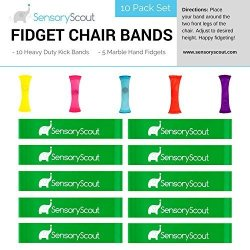 Enjoyable Sensory Scout Bouncy Fidget Kick Bands For Kids Chairs 10 Pack Plus 5 Free Marble Fidgets Increase Focus For School Students I R1025 00 Office Short Links Chair Design For Home Short Linksinfo