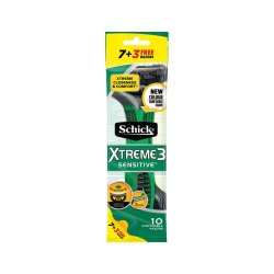 Xtreme 3 Disposable Razor Men's Sensitive 7+3 Free