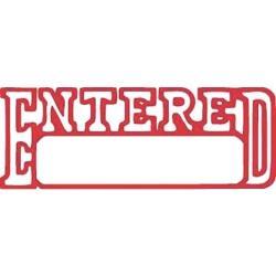 XStamper Red Ink Stamp - Entered - 1205