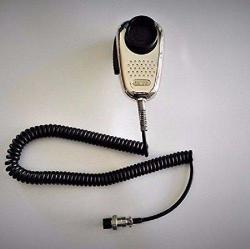 Ranger SRA-198 Chrome Edition Cb Ham Radio Noise Canceling MIC 4 Pin Wired
