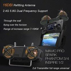 Nesee For Dji Mavic Pro 2.4G 5.8G Diy Signal Booster High Gain 16DBI Refitting Antenna Black