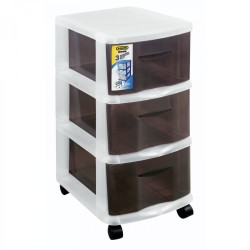 Addis 3 Drawer Storage Unit Smokey Tint