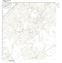 Working Maps Zip Code Wall Map Of Wesley Chapel Nc Zip Code Map Laminated
