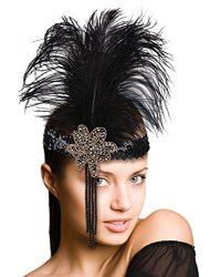 Aniwon Fascigirl Feather Fascinator Headband Party Tassel Sequin Party Cosplay Headpiece
