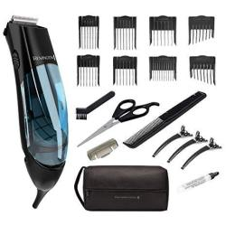 Remington HKVAC2000A Vacuum Haircut Kit Vacuum Beard Trimmer Hair Clippers For Men 18 Pieces