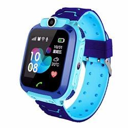 Ameiqa Kids Smartwatch Lbs Tracker Phone Kids Smartwatch For Boys Sos Call Camera Touch Screen Games-blue