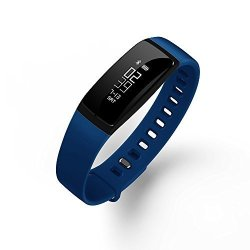 Living Waterproof Sports Healthy Blood Pressure Monitor Bluetooth Smart Bracelet Watch Blue Band