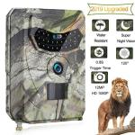 Ooouse Trail Game Camera 12MP 1080P HD Digital Waterproof Hunting Scouting Cam 120 Degree Wide Angle Lens With 0.8S Trigger Spee