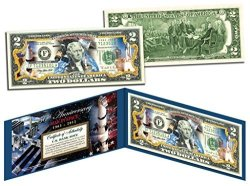 The Merrick Mint Man In Space 50TH Anniversary Colorized Genuine Legal Tender Us $2 Bill Nasa