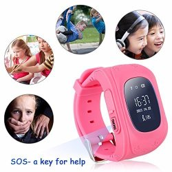 Changsha Hangang Technology Ltd Hangang Gps Tracker For Kids Smartwatch Kids Anti-erra Sos Calling Search For Kids Waterproof Real-time Tracking Smart Watch Not Include Sim Card Pink