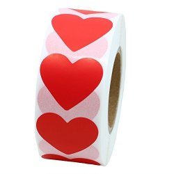Hybsk Color Coding Dot Labels 30MM Love Heart Natural Paper Stickers Adhesive Label 1 000 Per Roll 1 Roll