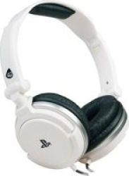 4GAMERS Wired Stereo Dual Format Gaming Headset For PS4 And Ps Vita White