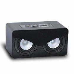 Sound Box Graffiti Wooden Portable Bluetooth Speaker Portable Digital Audio Card Small Speakers Bric Gift Color : Black